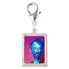 """Blue Thom Yorke"" Silver Portrait Charm"