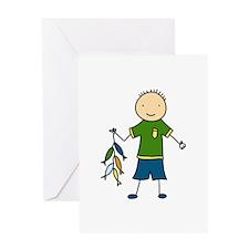 Boy Fishing Greeting Cards