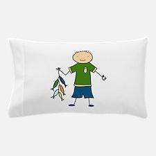 Boy Fishing Pillow Case