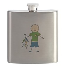 Boy Fishing Flask