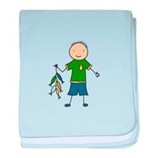 Boy Fishing baby blanket