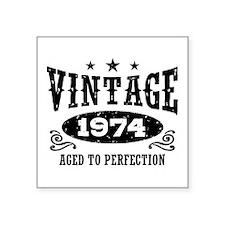 "Vintage 1974 Square Sticker 3"" x 3"""