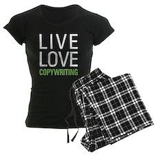 Live Love Copywriting Pajamas