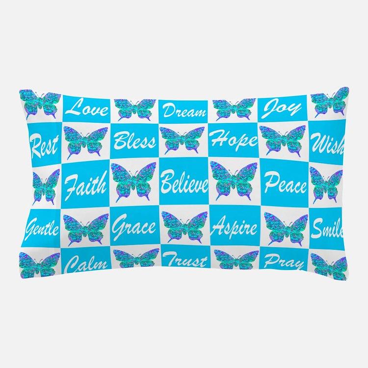 BLUE BUTTERFLY Pillow Case