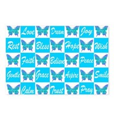 BLUE BUTTERFLY Postcards (Package of 8)