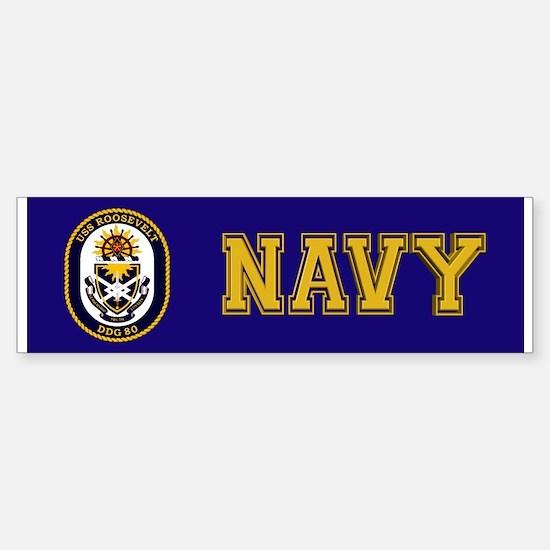 USS Roosevelt DDG-80 Sticker (Bumper)