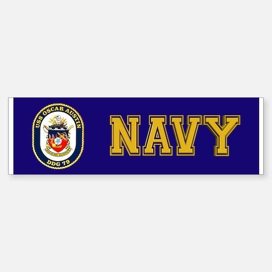 DDG 79 USS Oscar Austin Sticker (Bumper)