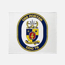 DDG 78 USS Porter Throw Blanket