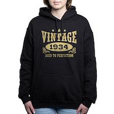Vintage 1934 Women's Hooded Sweatshirt