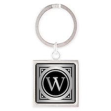 Deco Monogram W Keychains