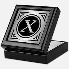 Deco Monogram X Keepsake Box