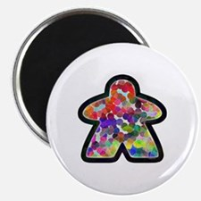 Stained Glass Meeple Magnet
