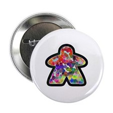 """Stained Glass Meeple 2.25"""" Button"""