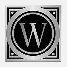 Deco Monogram W Tile Coaster