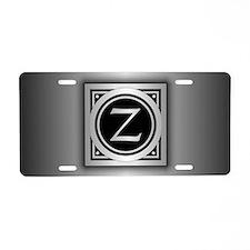 Deco Monogram Z Aluminum License Plate