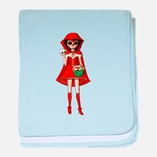 Red Riding Hood of Day of The Dead baby blanket