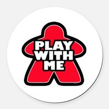 Play With me Round Car Magnet