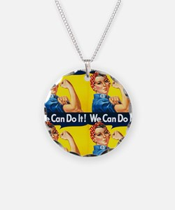 Rosie the Riveter We Can Do It Necklace