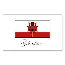 Gibraltar - Flag Rectangle Decal