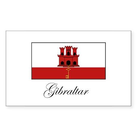 Gibraltar - Flag Rectangle Sticker