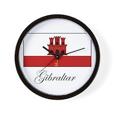 Gibraltar - Flag Wall Clock