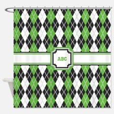 Retro Argyle Shower Curtain
