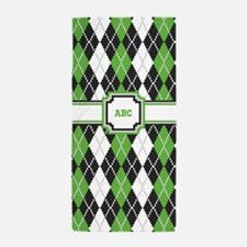 Retro Argyle Beach Towel