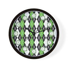 Retro Argyle Wall Clock