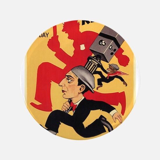 "CHU Buster Keaton Cameraman poster 3.5"" Button"