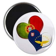 Portugal and Azores hearts Magnets