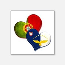 Portugal and Azores hearts Sticker
