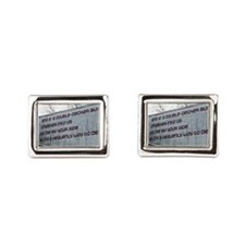 The Smiths Bus Lyrics Rectangular Cufflinks