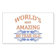 World's Most Amazing 80 Year O Decal