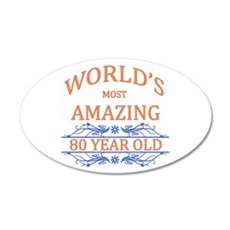 World's Most Amazing 80 Year Wall Decal