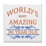 80 birthday awesome Drink Coasters