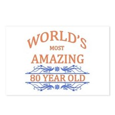 World's Most Amazing 80 Y Postcards (Package of 8)