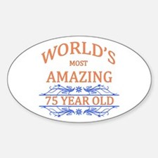 World's Most Amazing 75 Year Decal