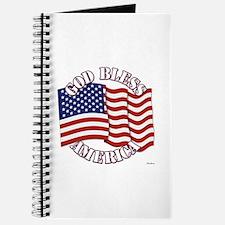 God Bless America With USA Flag Journal