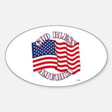 God Bless America With USA Flag Decal