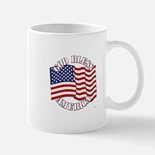 God Bless America With USA Flag Mugs