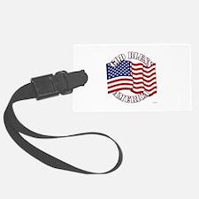 God Bless America With USA Flag Luggage Tag