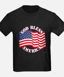 God Bless America With USA Flag T-Shirt