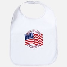 God Bless America With USA Flag Bib