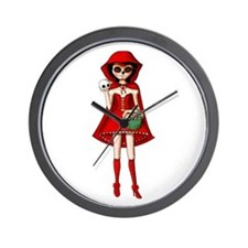 Red Riding Hood of Day of The Dead Wall Clock