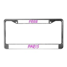 Free Paris - License Plate Frame