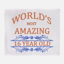 World's Most Amazing 16 Year Old Throw Blanket