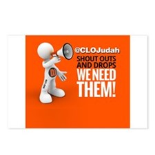 CLOJudah ShoutOuts Drops Postcards (Package of 8)