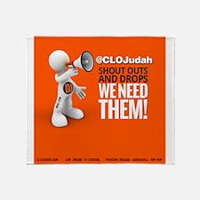 CLOJudah ShoutOuts Drops Throw Blanket