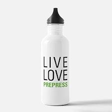 Live Love Prepress Water Bottle