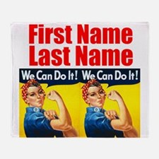 Rosie the Riveter We Can Do It Throw Blanket
